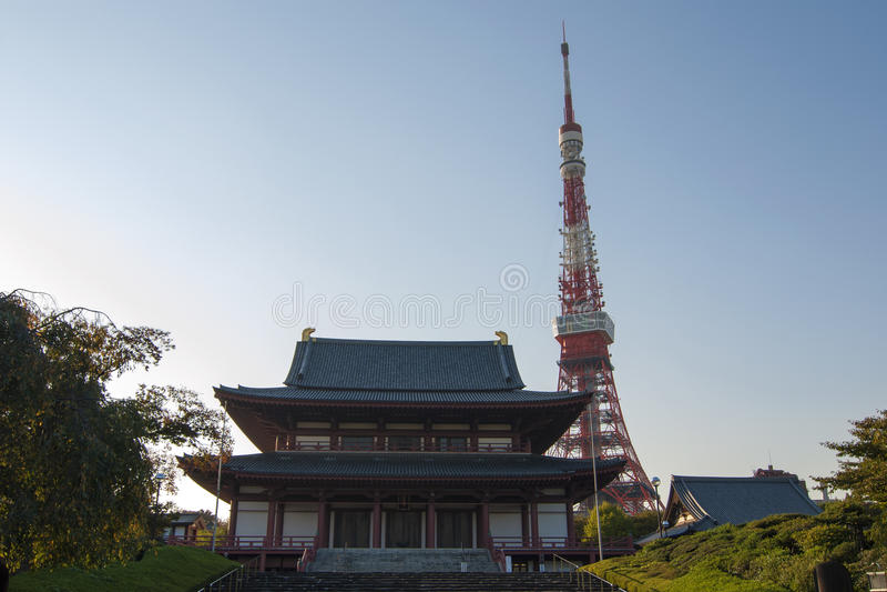 ji świątynny Tokyo zoji zdjęcia royalty free