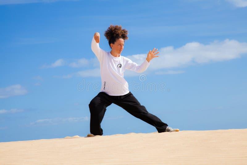 Ji del Tai en las dunas imagen de archivo libre de regalías