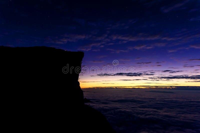 Ji fa de Phu en el crepúsculo del amanecer imágenes de archivo libres de regalías