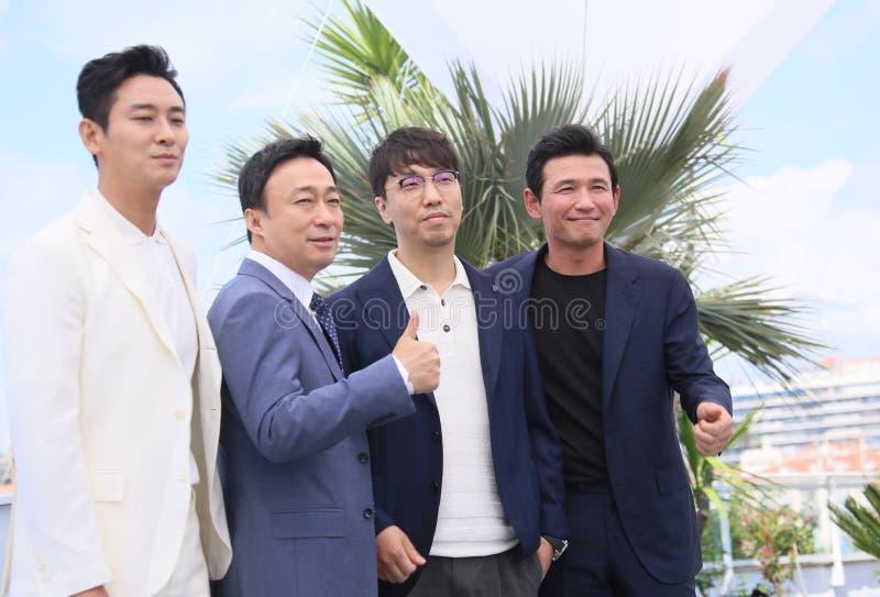 Ji-Hoon Ju, Петь-минута Ли, Jong-ящик Yoon, Jung-минута Hwang стоковая фотография rf