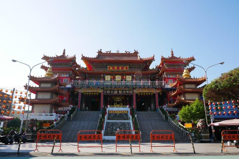 Ji Ming Palace en Lotus Lake foto de archivo