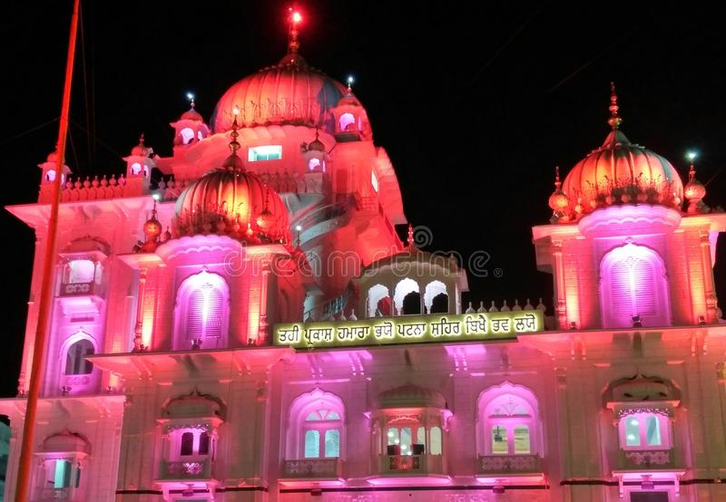 Ji Patna Saheb Takht Shri Harimandir lizenzfreies stockfoto