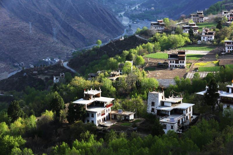 Jiaju Tybetańska wioska Sichuan Chiny obrazy stock