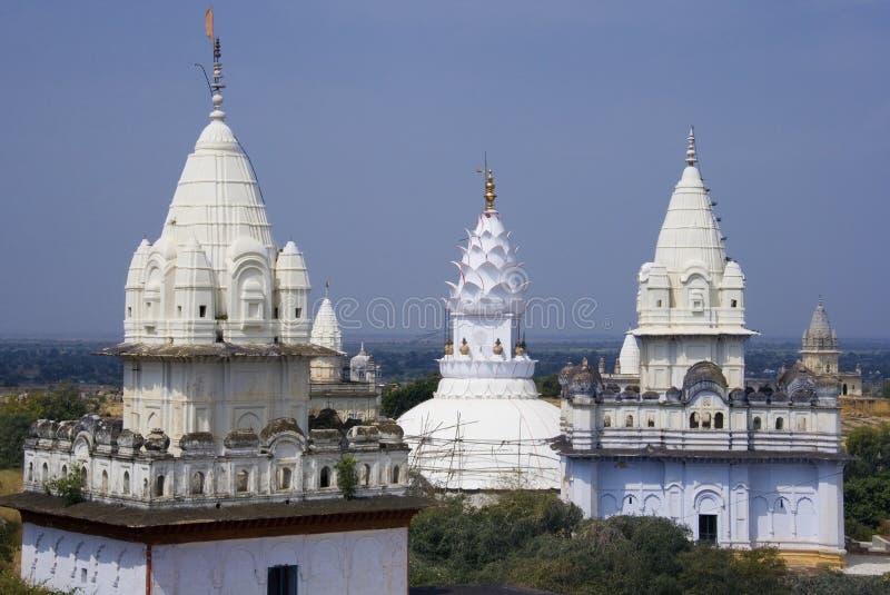 Jian świątynie przy Sonagiri, India - zdjęcia stock
