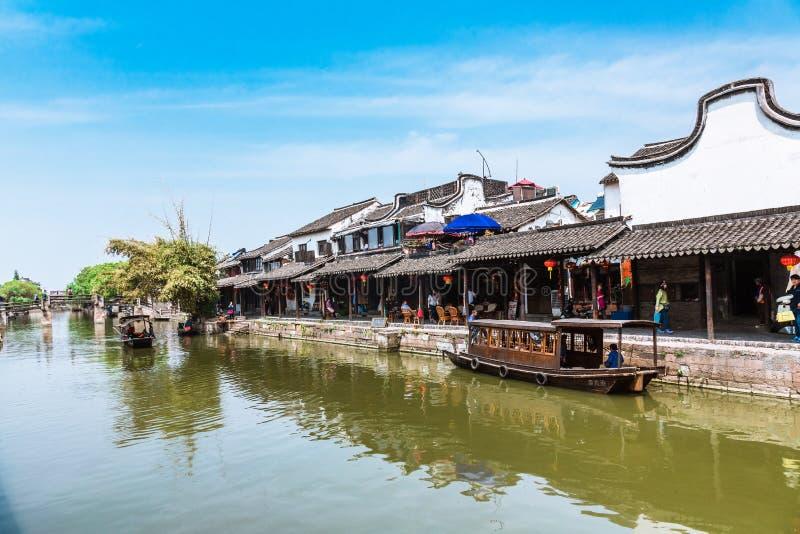 Jiang Jiangnan ancient town in Xitang Province royalty free stock image