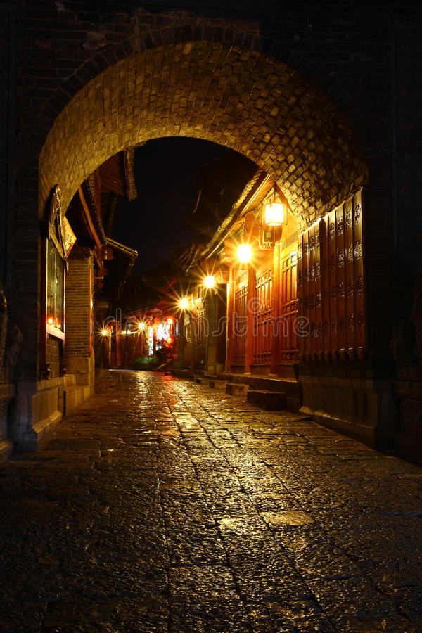 jiang li stary miasteczko fotografia stock