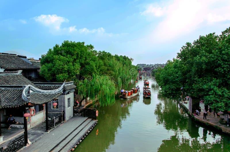 Jiangnan oude stad stock afbeeldingen