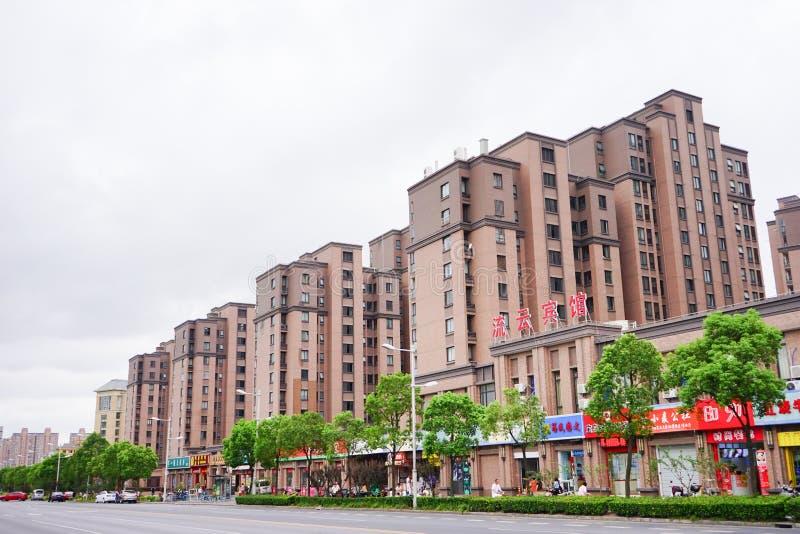 Jiangwan Fudan för universitetsområdelandskap universitet: dorm arkivbild