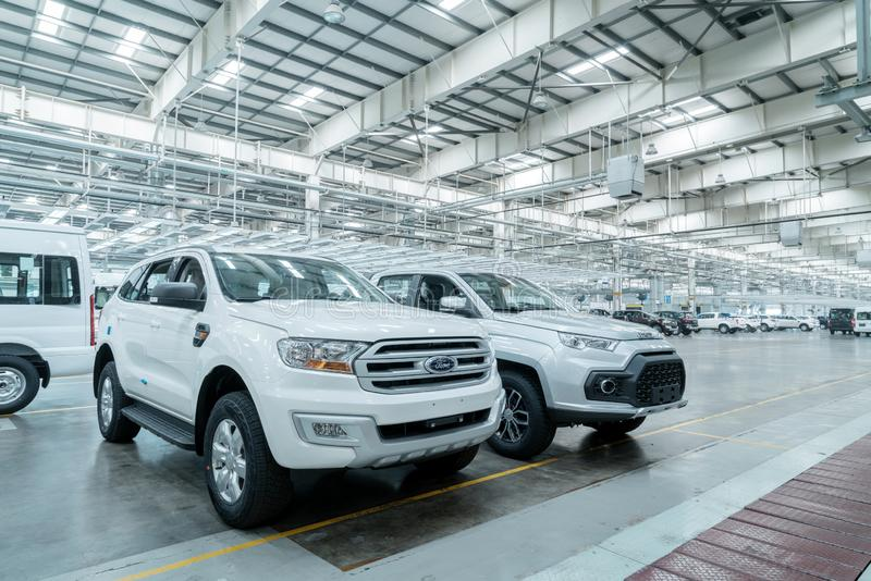 New car is ready to leave the factory. JIANGXI CHINA-September 4,2017:Located in the automobile production plant in Jiangxi, a number of new cars are ready to royalty free stock image