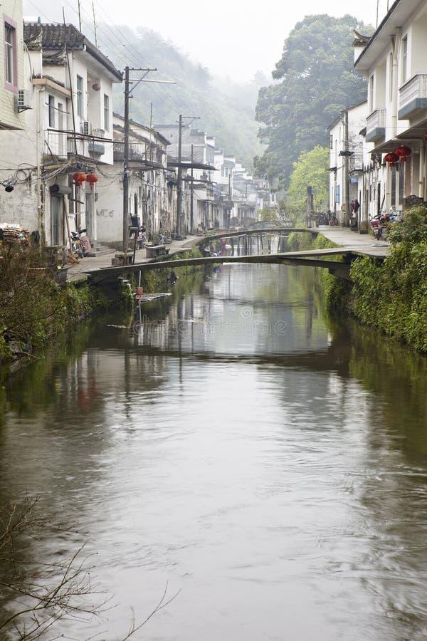Jiangxi, porcellana: piccolo villaggio in wuyuan fotografie stock