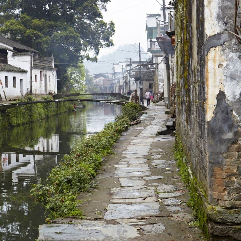 Jiangxi porslin: liten by i wuyuan royaltyfri foto