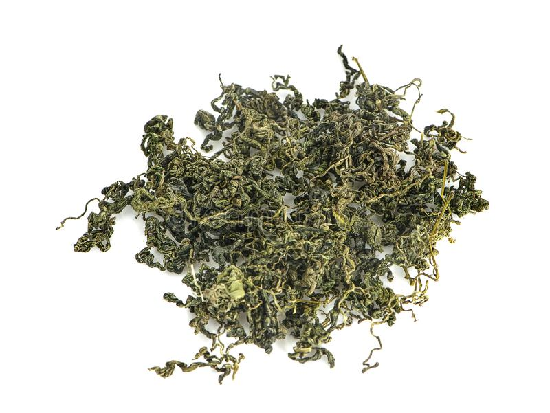 Jiaogulan, Miracle grass, Chinese herb tea an isolated.  stock photo