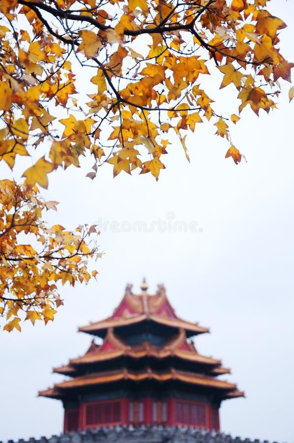 Jiaolou, kąta wierza zakazane miasto zdjęcia stock