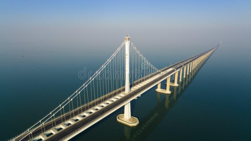 Jiaozhouwan bridg qingdao China royalty-vrije stock afbeelding
