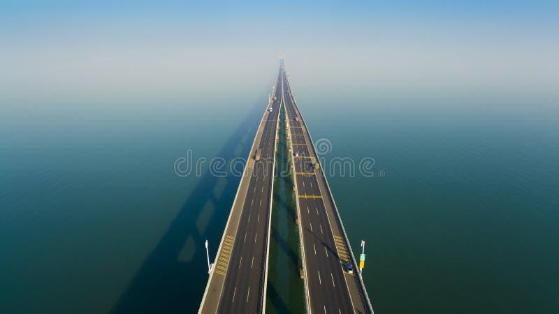 Jiaozhouwan bridg qingdao china stock image