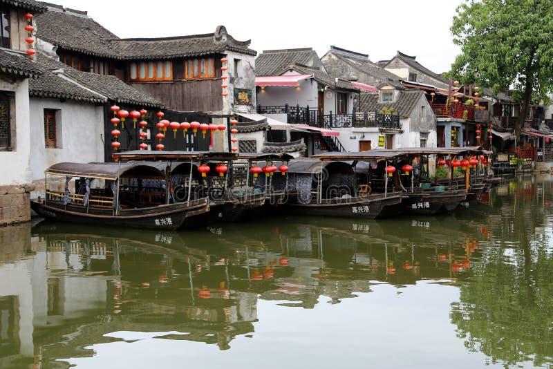 Jiaxing, πόλη Xitang, επαρχία Zhejiang, Κίνα στοκ εικόνα