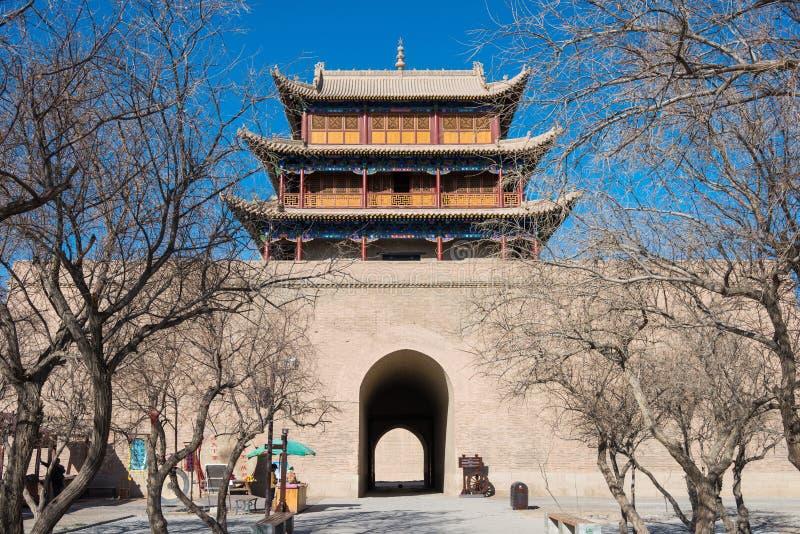 JIAYUGUAN, CHINE - 13 avril 2015 : Passage de Jiayuguan, West End de Grea photo stock