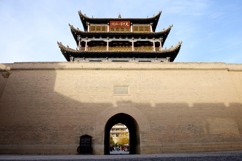 Jiayuguan city stock images