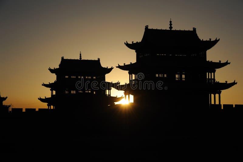 JiaYuGuan miasto zdjęcia stock