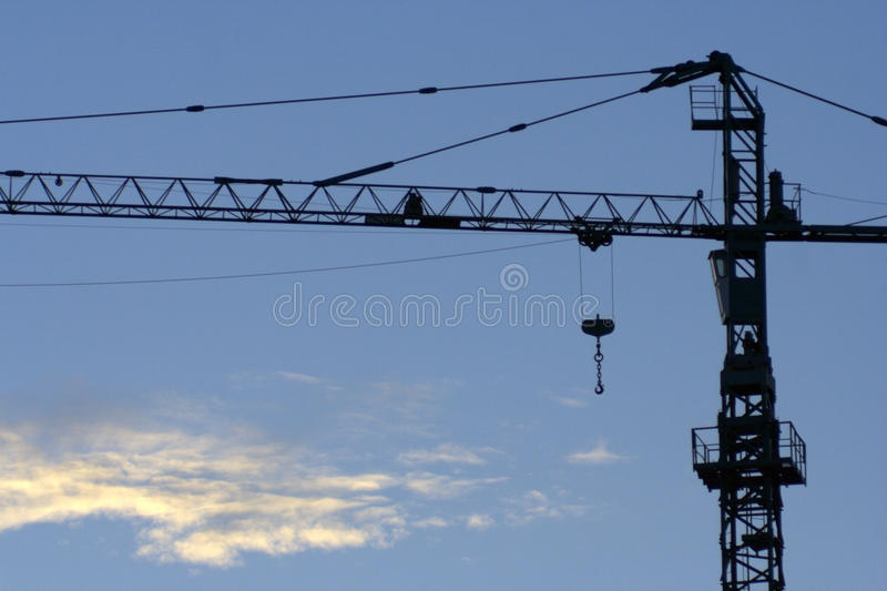Jib crane silhouette stock images