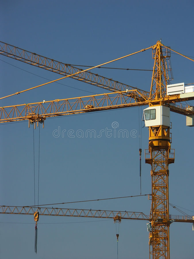 Download Jib cranes stock image. Image of chains, space, cable, conveying - 101763