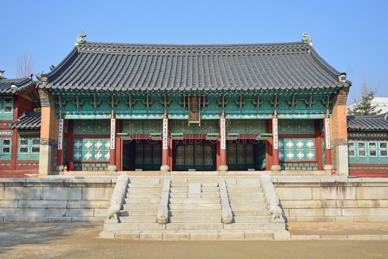 Jibokjae nel palazzo di Gyeongbok immagini stock