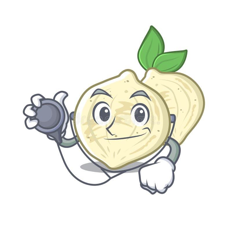 Jicama do doutor com na mascote isolada ilustração stock