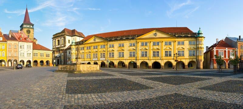 Jicin Rathausplatz stockfotografie