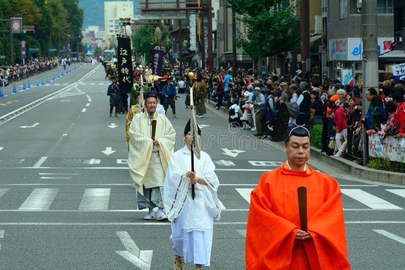 Jidai historisk festival, Kyoto, Japan royaltyfri foto