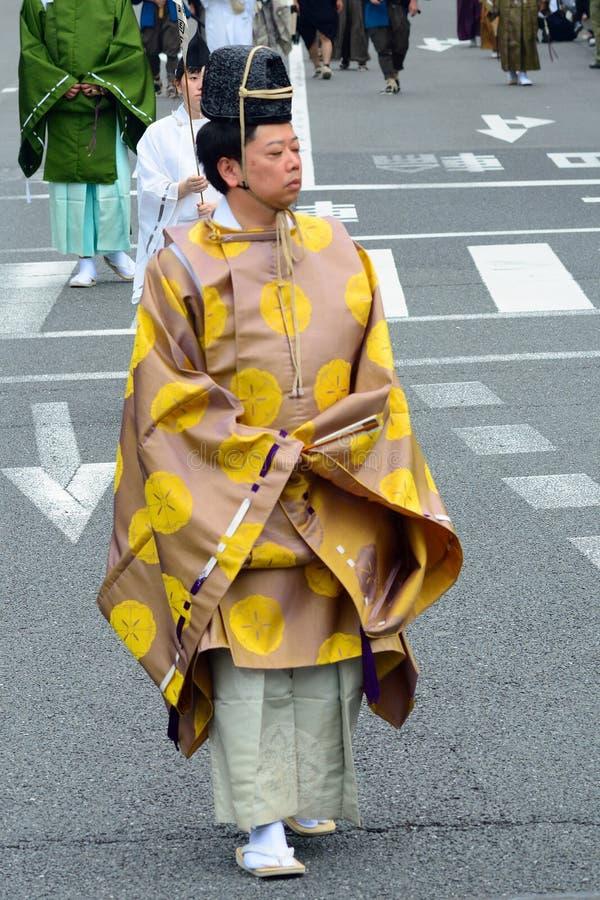 Jidai historisk festival, Kyoto, Japan fotografering för bildbyråer