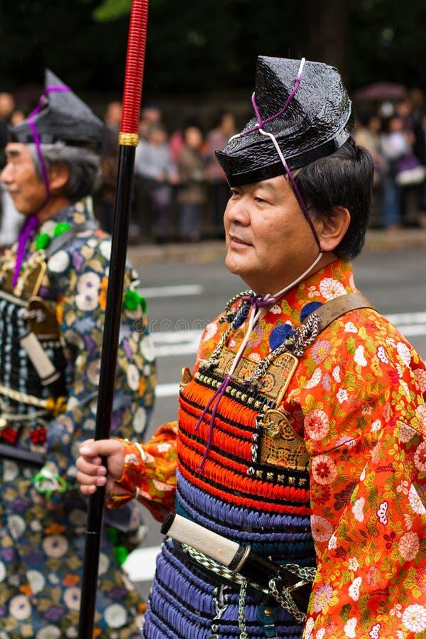 Jidai Matsuri festival i Kyoto, Japan fotografering för bildbyråer