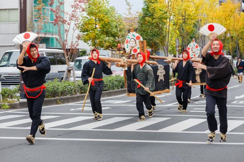 Jidai Matsuri i Kyoto, Japan royaltyfria bilder