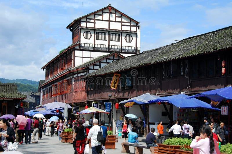Jiezi, China: Ancient Town Street Scene stock photo