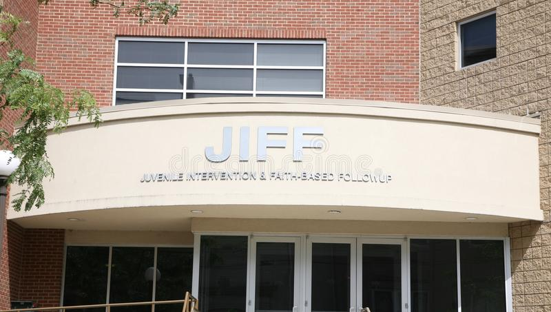 JIFF, Memphis TN. The Juvenile Intervention and Faith Based Follow-Up provides youth from the juvenile justice system with the skills, support and direction royalty free stock photo