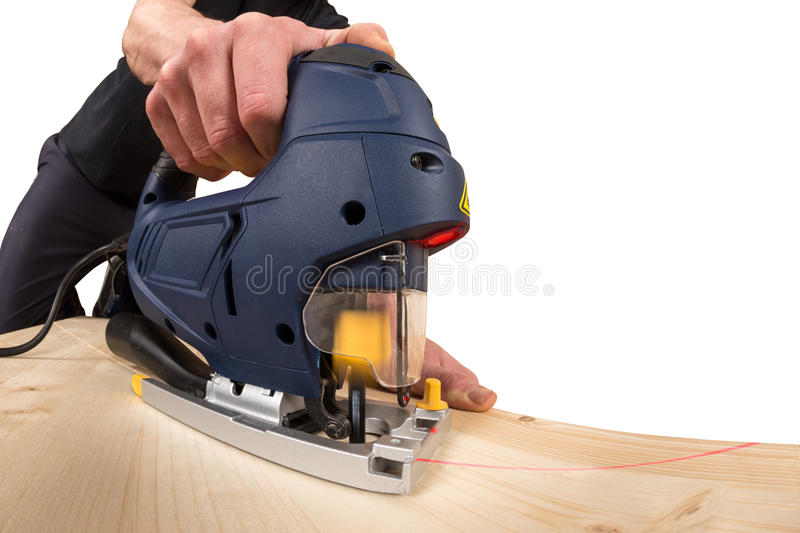 Download Jig saw at work stock photo. Image of hobby, renovate - 37812142