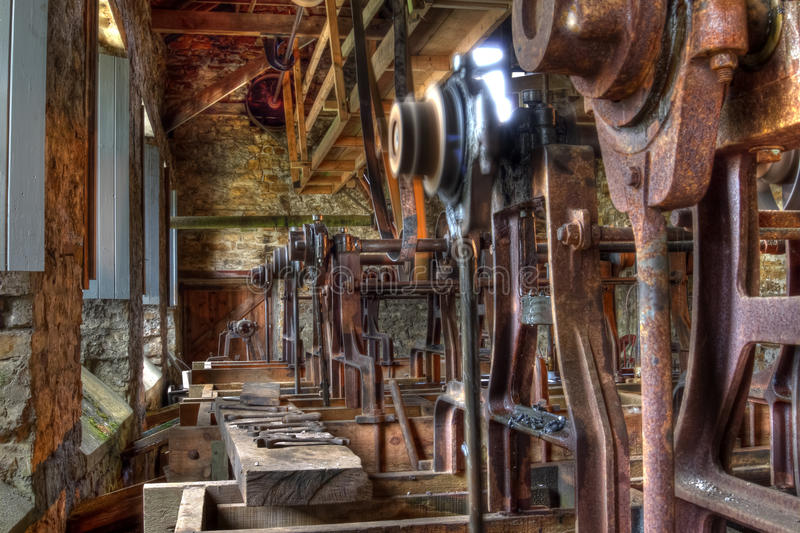Jigger Room. The Jigger Room at Killhope lead mining museum, Weardale royalty free stock photography