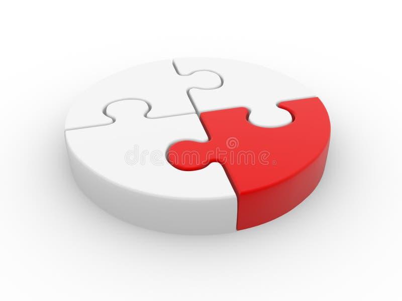 Jigsaw stock illustrationer
