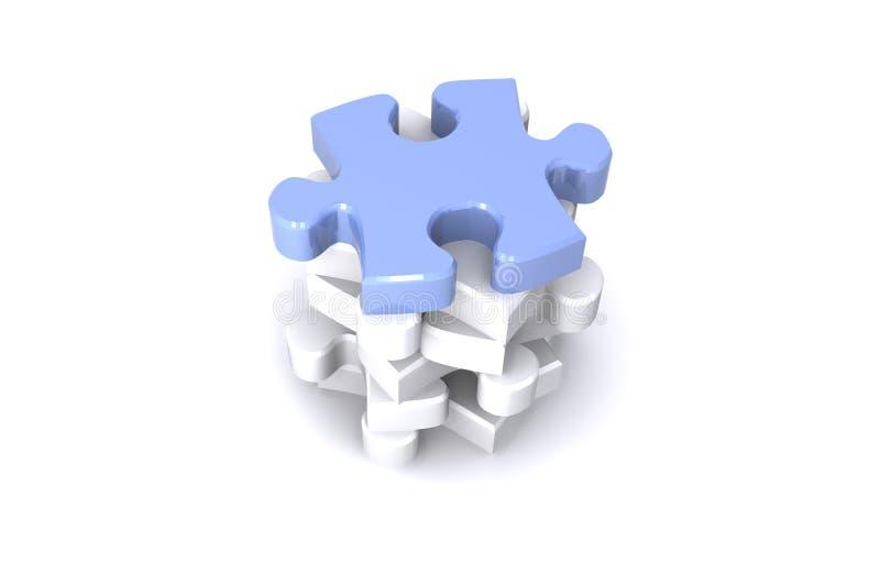 jigsaw royaltyfri illustrationer