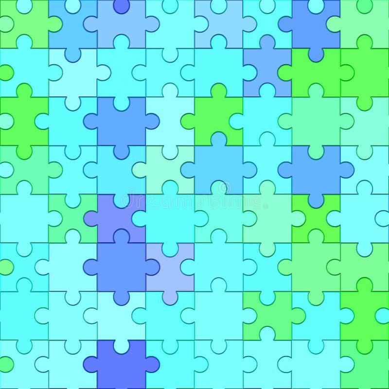 jigsaw vektor illustrationer