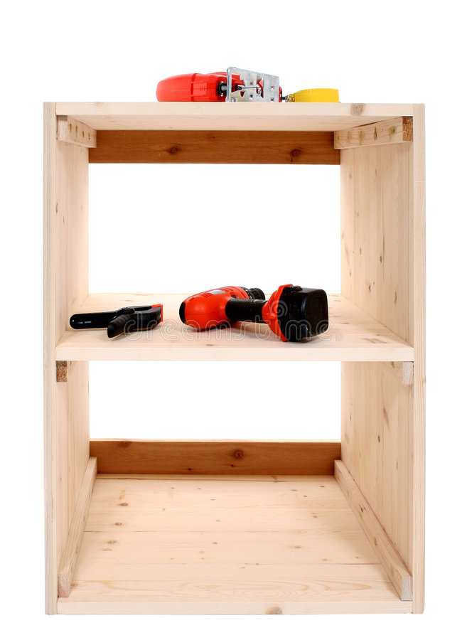 Free Jigsaw And Other Tools On Shelf Project Stock Image - 128091