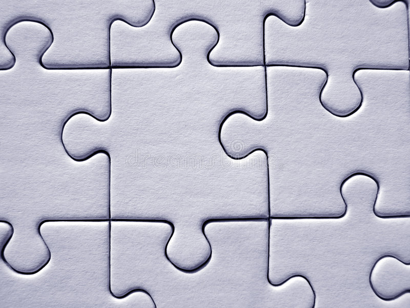 Jigsaw background stock photo