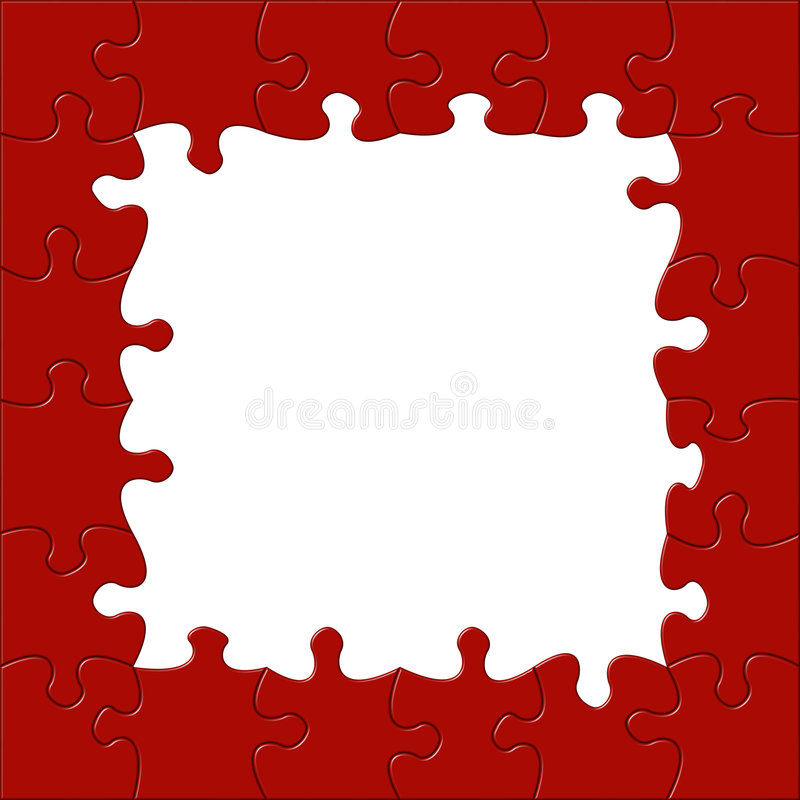 Jigsaw Border royalty free illustration