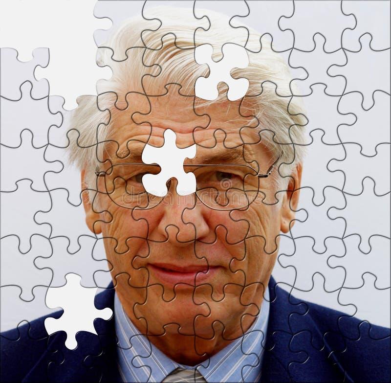 Jigsaw businessman royalty free stock image