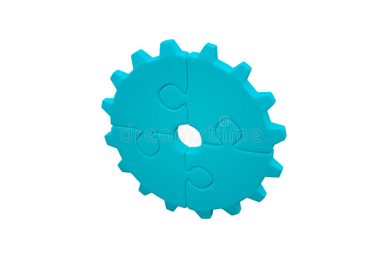 Jigsaw circle. Jigsaw pieces with white background royalty free illustration