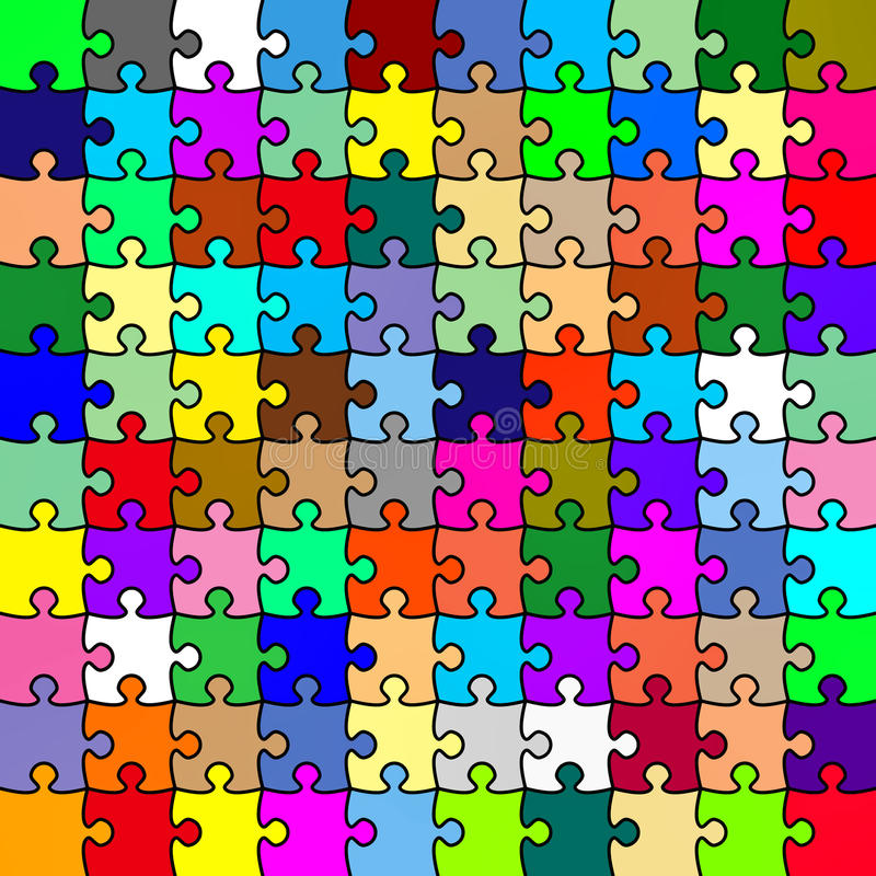 Jigsaw color puzzle