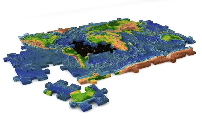 Jigsaw complicated world concept royalty free stock photography
