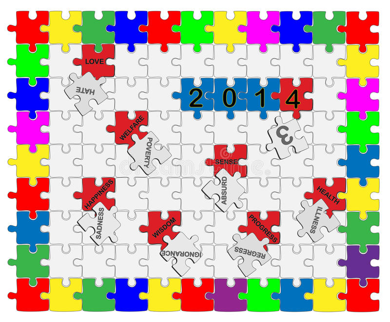 Download Jigsaw Drop-down Puzzle  2013- 2014  - Wishful Thinking 1 Stock Illustration - Illustration of integration, pattern: 36105343