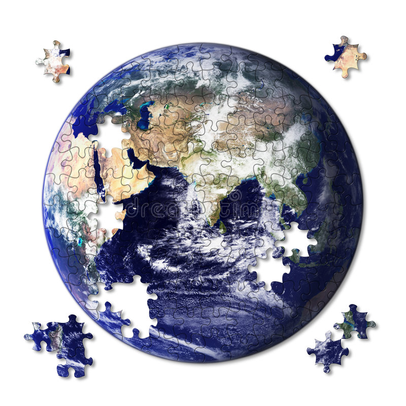 Jigsaw Earth stock illustration