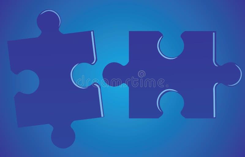 Jigsaw-förbrylla vektor illustrationer