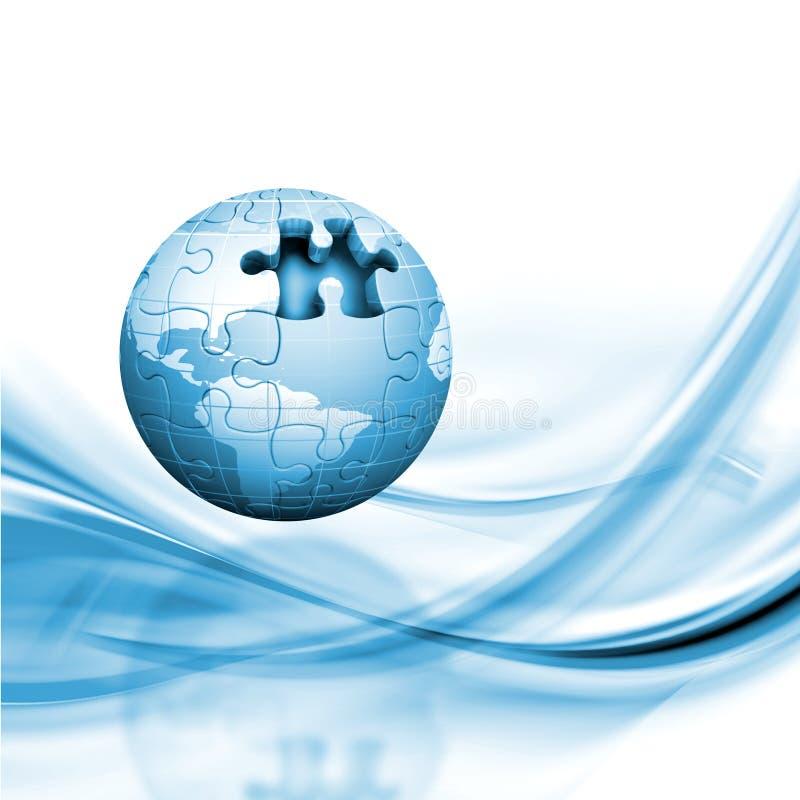 Download Jigsaw globe stock illustration. Image of world, jigsaw - 10095490